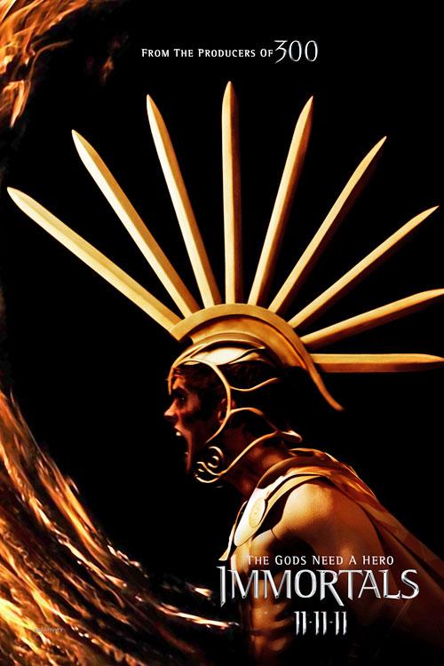 Poster de Ares en Inmortals