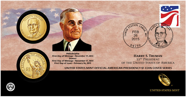President Harry S. Truman 2015 One Dollar Coin Cover