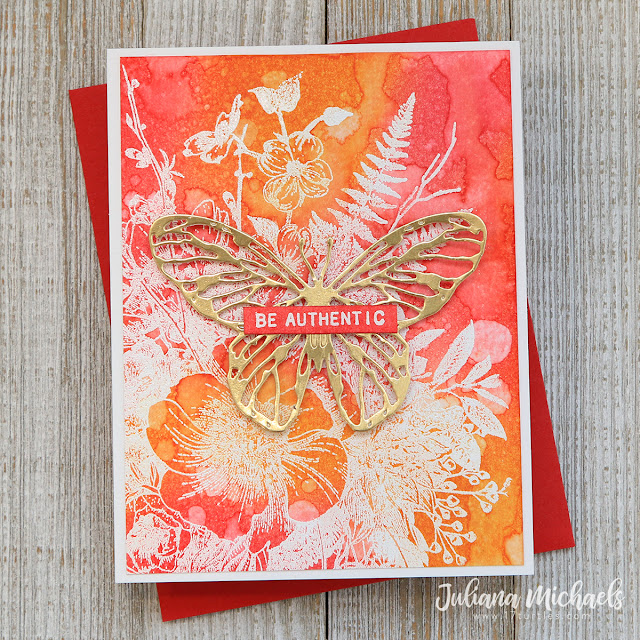 Distress Ink Analogous Background Card by Juliana Michaels
