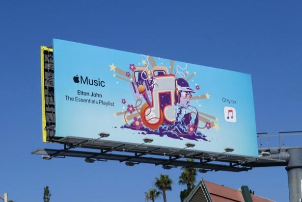 Elton John playlist Apple Music billboard