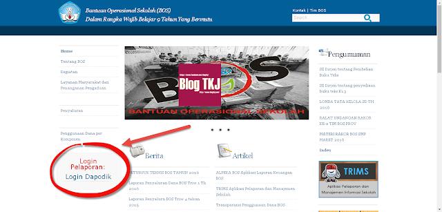 Langkah-langkah pelaporan dana BOS secara Online