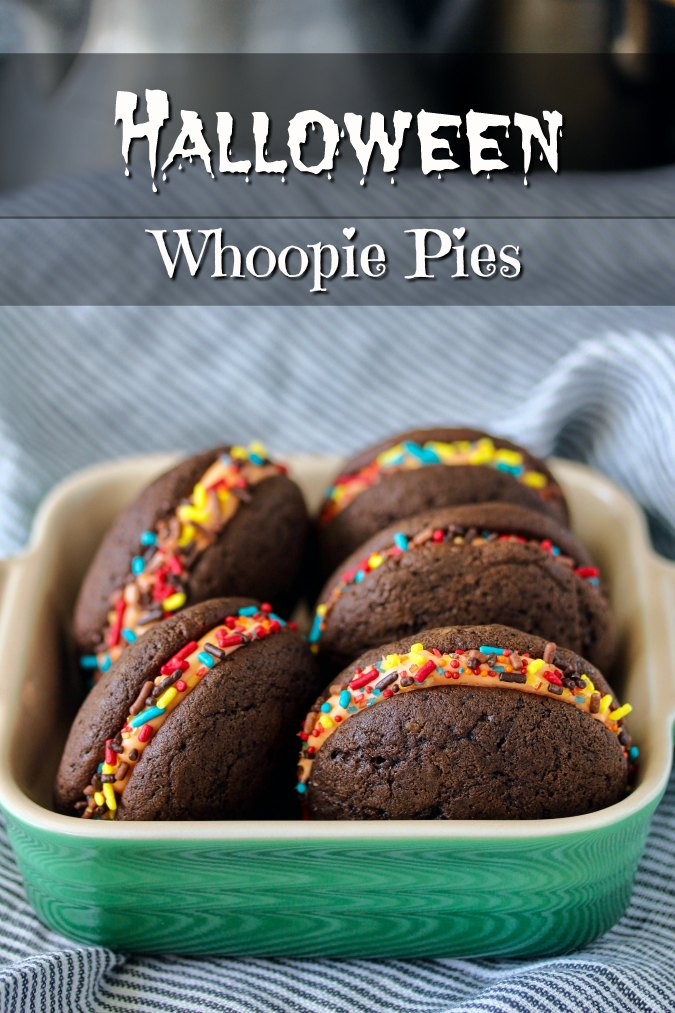 Halloween Stuffed Chocolate Whoopie Pies Recipe