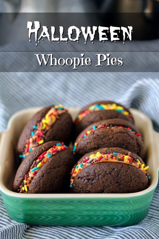 Halloween Stuffed Chocolate Whoopie Pies Recipe