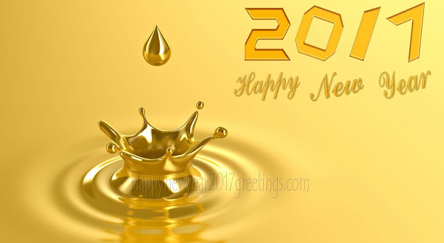 Happy New Year 2017 Golden Background Pictures, Wallpapers Download Free