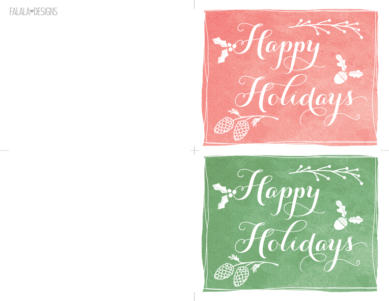 printable holiday cards - Goalgoodwinmetals