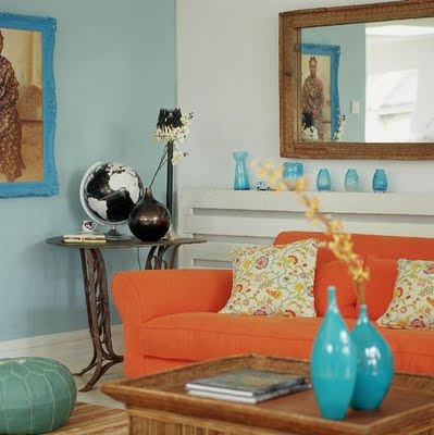 Southgate Residential: Color Inspiration: Blue and Orange - Turquise And Orange Home Decor