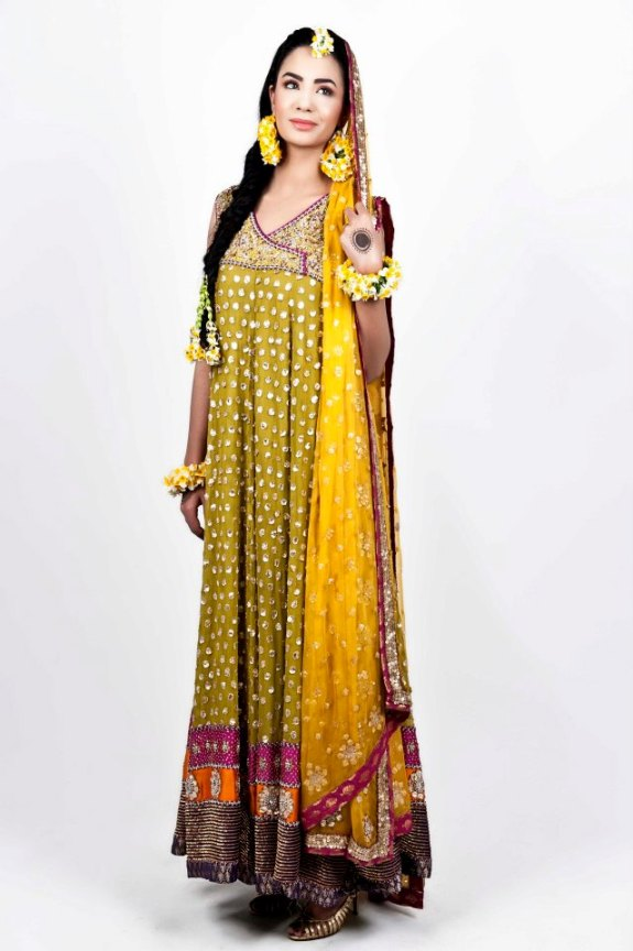 031847f37 Pak Fashion 101  Mehendi Dresses Collection With New Design