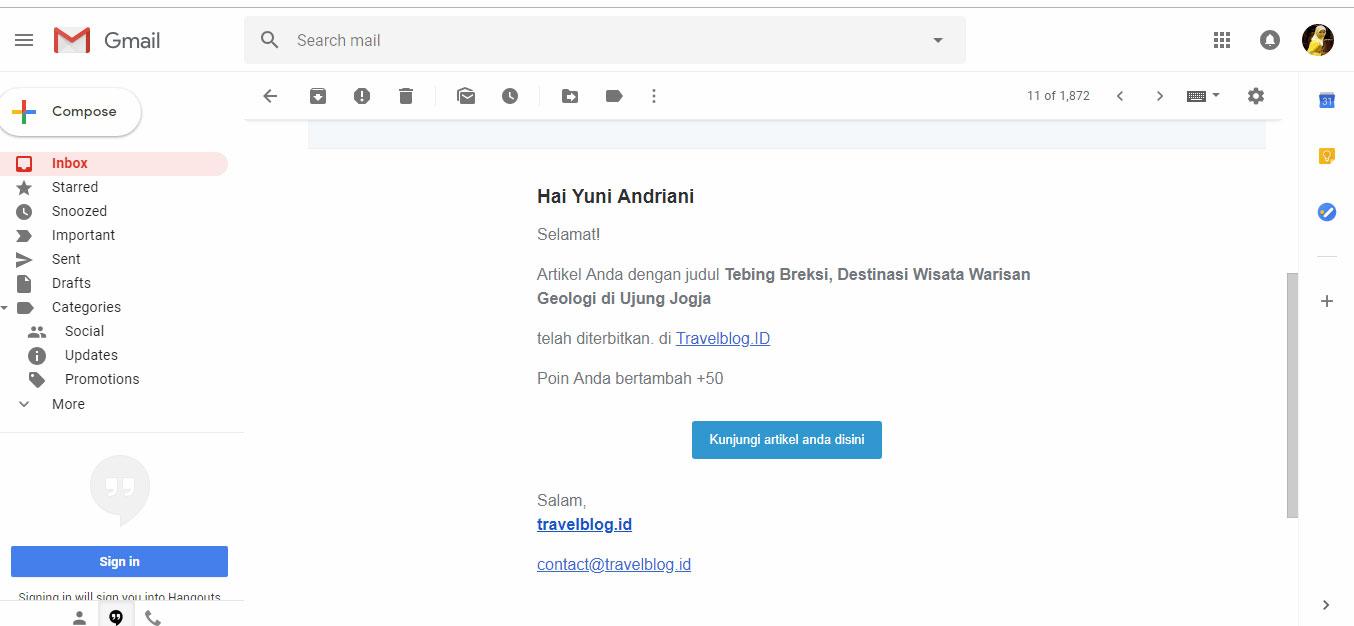 Notifikasi email