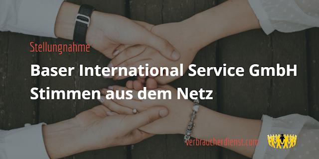 Titel: Baser International Service GmbH – Stimmen aus dem Netz