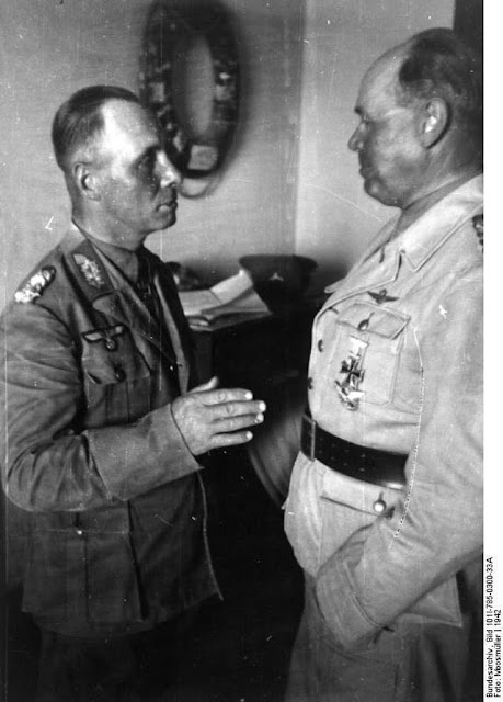 Field Marshals Rommel and Kesselring in North Africa, June 1942 worldwartwo.filminspector.com
