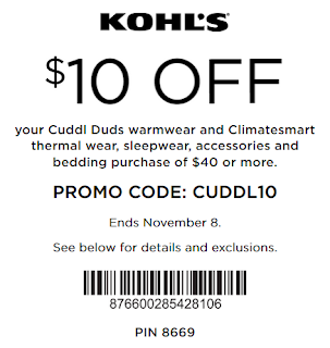 Save $10 Off $40+ Cuddl Duds and ClimateSmart