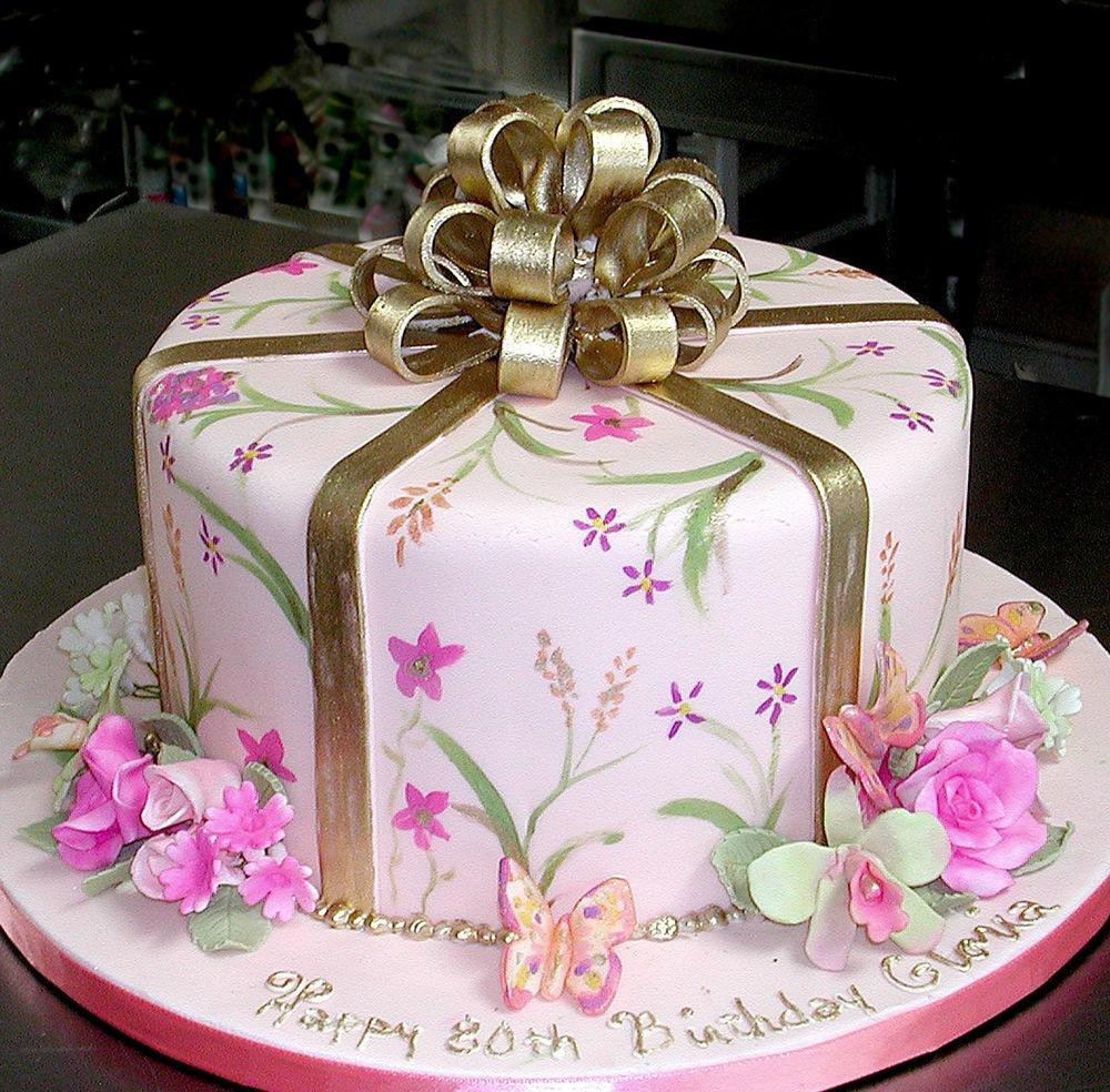 fancy birthday cake
