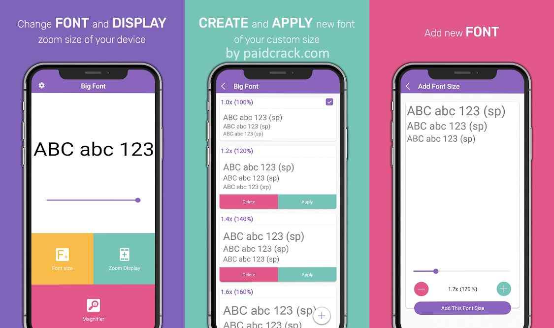 Bigger Mobile Fonts Premium Mod Apk 1.0.1