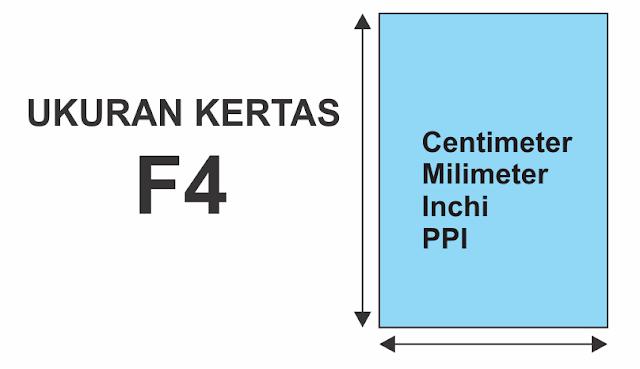 Ukuran Kertas F4 cm