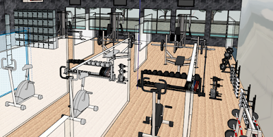 design in body building area