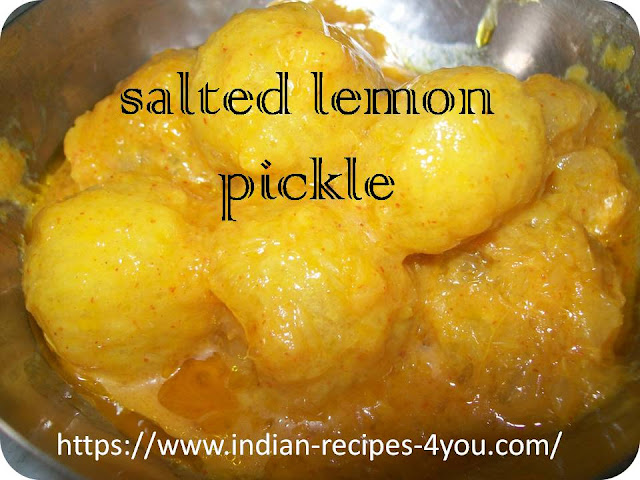 salted lemon pickle