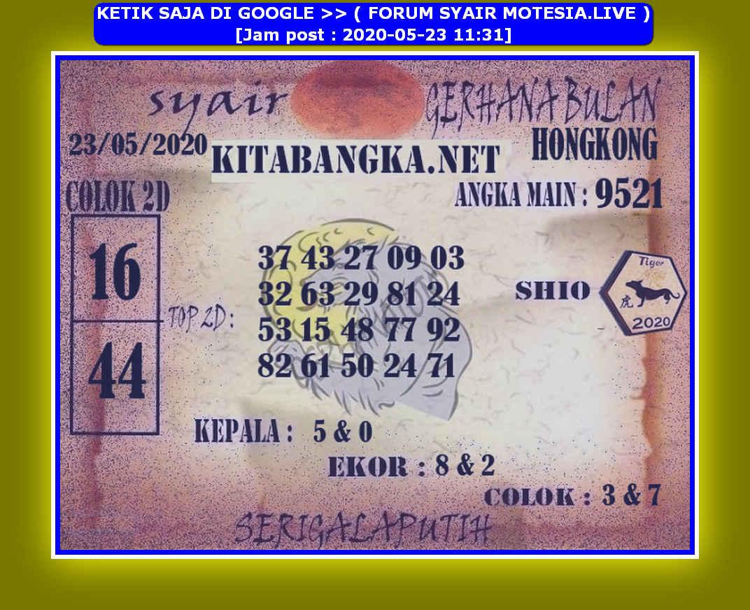 Kode syair Hongkong Sabtu 23 Mei 2020 201