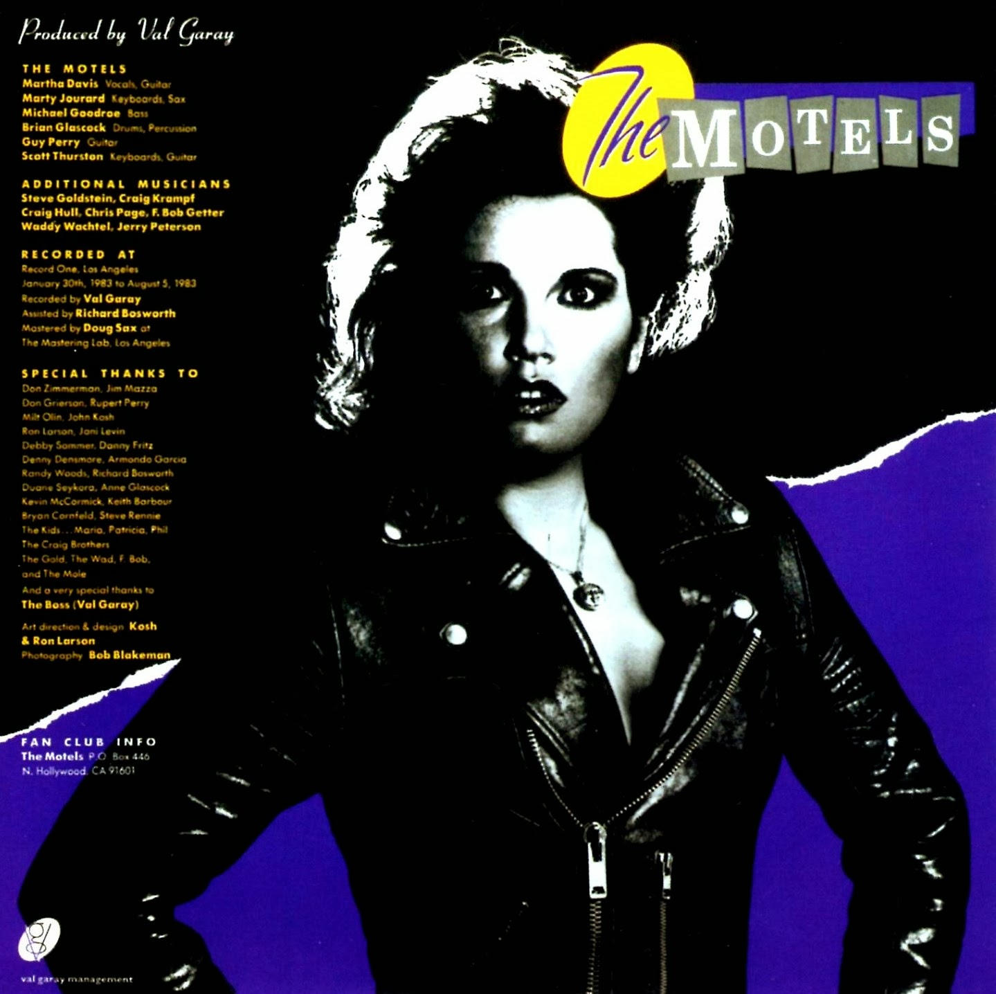 Lansure's Music Paraphernalia: THE MOTELS | MARTHA DAVIS