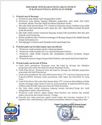 protokol kesehatan saat wisata di Kepulauan Seribu