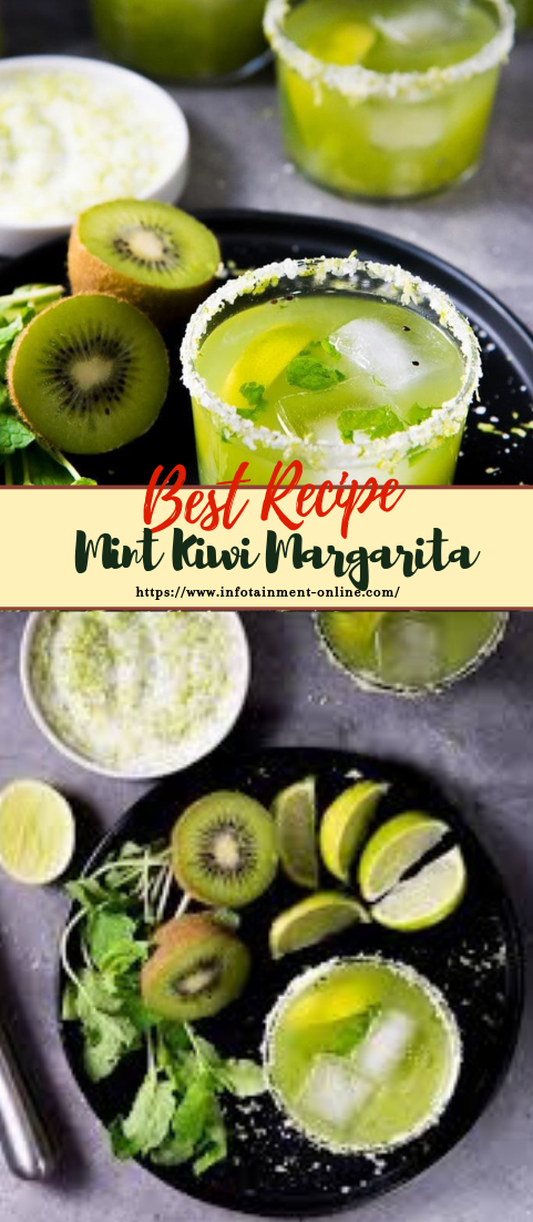 Mint Kiwi Margarita  #healthydrink #easyrecipe #cocktail #smoothie