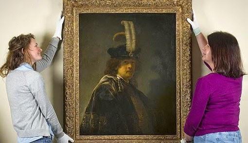 Expertos británicos y holandeses autenticaron el Autorretrato con gorro y  pluma blanca 3dcbada7be5
