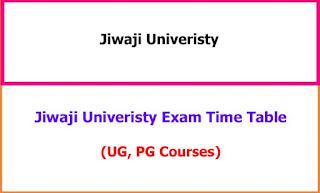 Jiwaji University Exam Time Table UG, PG 2021
