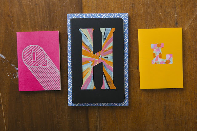 Personalized notebooks using stencil.