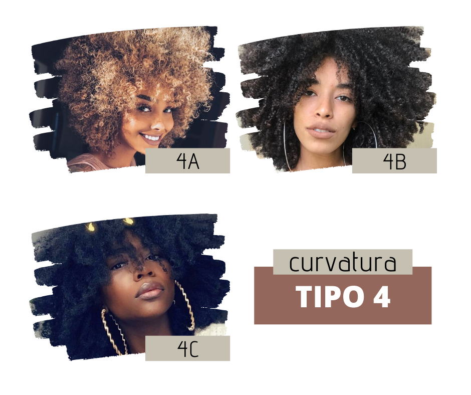 Tipo 4 cabelos cacheados