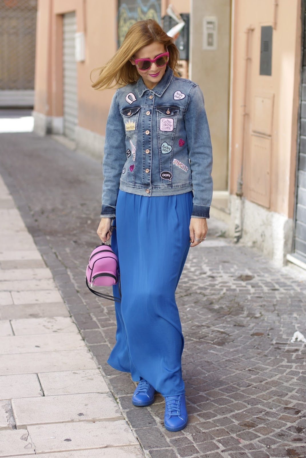 DIY patched jacket on Fashion and Cookies fashion blog, fashion blogger style