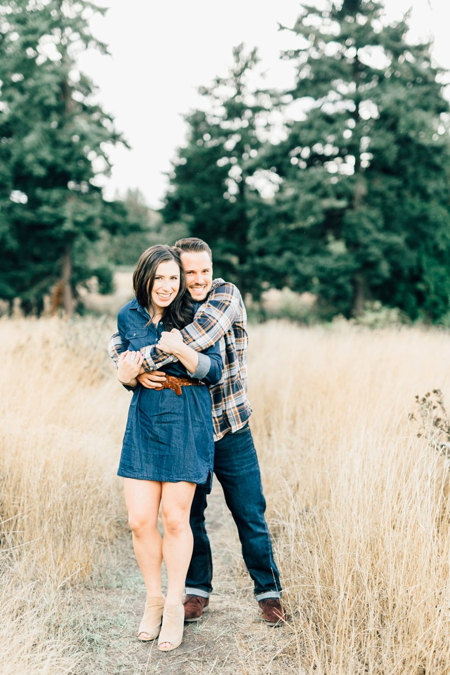 Golden Fall Engagement Session by Seattle Wedding Photographer Something Minted