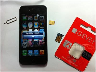 Cách ghép sim cho điện thoại iphone 5