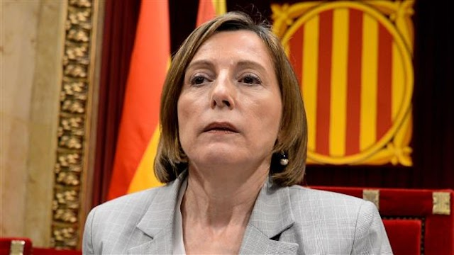 Spanish court summons Catalan parliament speaker Carme Forcadell to charge her