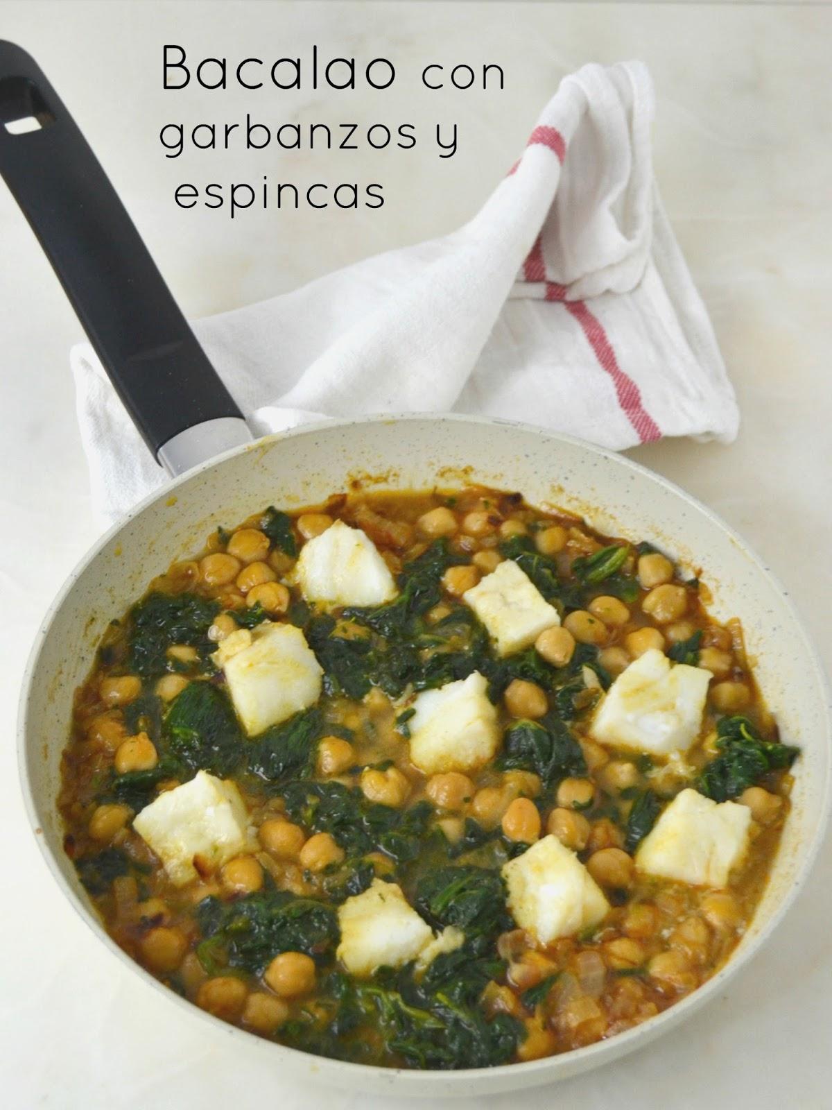 Recetas De Cocina Con Espinacas   Bacalao Con Garbanzos Y Espinacas Expres Legumbreandots Cuuking