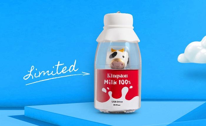 Kingston Mini Cow USB Flash Drive Milk Bottle