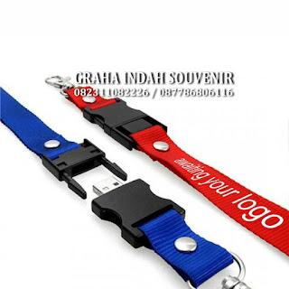 souvenir usb flashdisk tali lanyard promosi murah