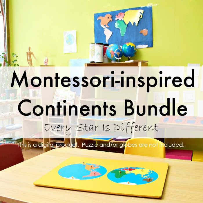 Montessori-inspired Continents Bundle