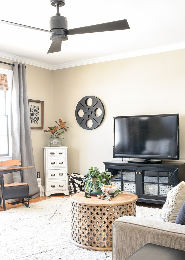 TV before, Modern Farmhouse living room