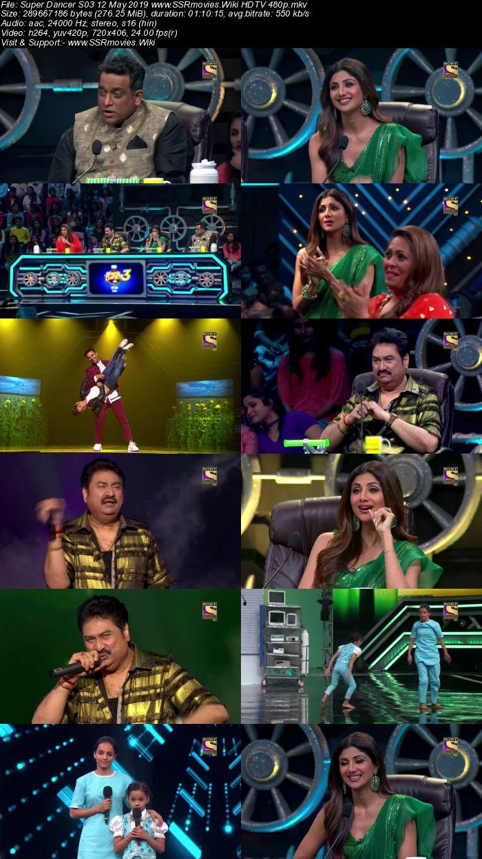 Super Dancer S03 12 May 2019 HDTV 480p Full Show Download