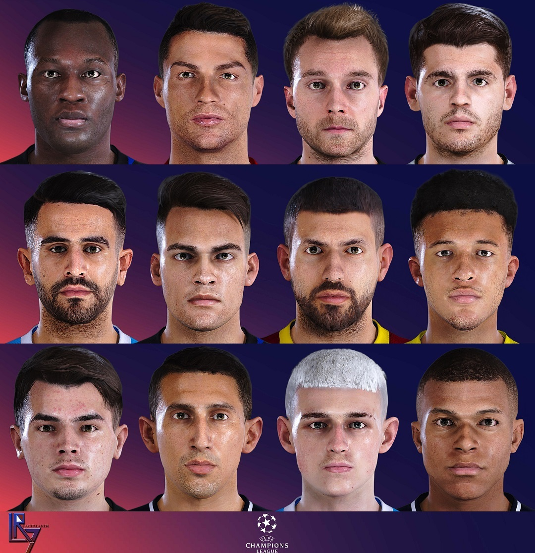 UCL FACEPACK EDITION vol1.v4 by LR7_Face for PES 2021