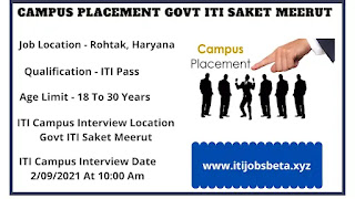 ITI Job Campus Placement In Meerut Uttar Pradesh