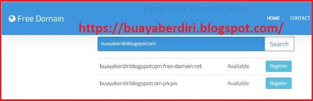 FREE Domain - Website Penyedia Domain Gratis / Free Domain