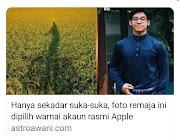 Lapangan Tanaman Padi Mewarnai Akaun Rasmi Apple