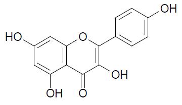 estrutura-quimica-canferol-kaempferol-formula