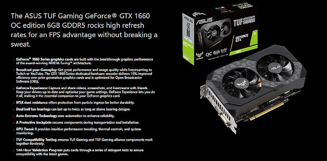 Asus TuF Gaming GTX 1660 6GB