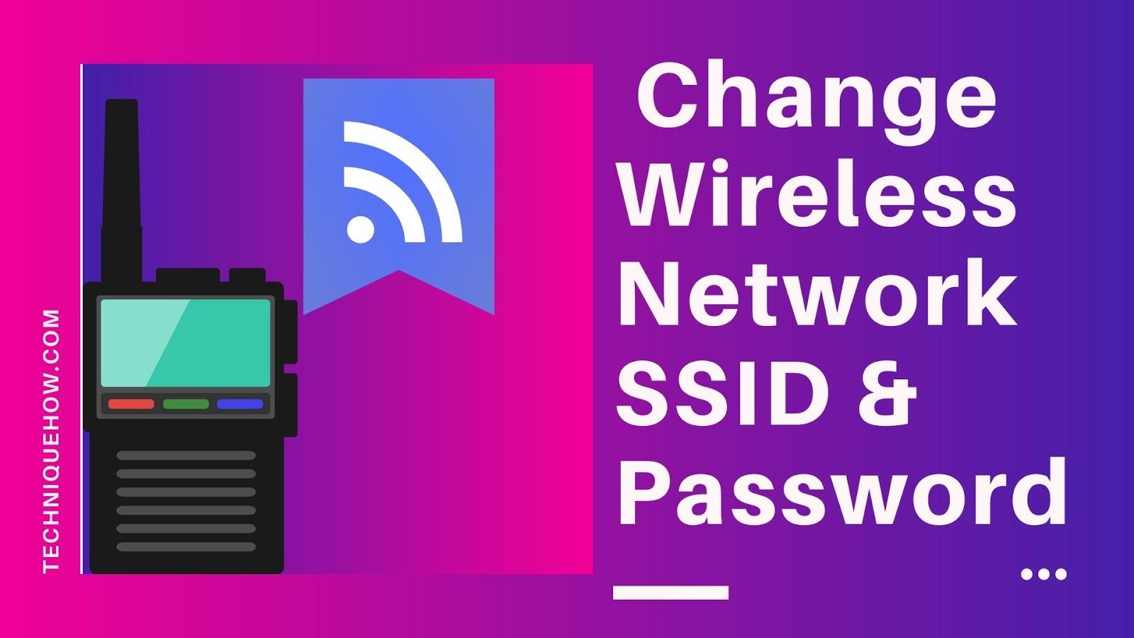 SSID password
