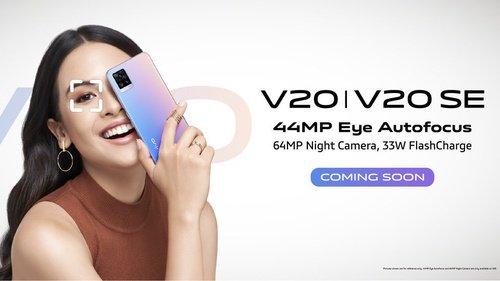 Vivo V20 Ponsel Android Dengan Kamera Depan Terbarik 44MP Eye Tracking + 44MP