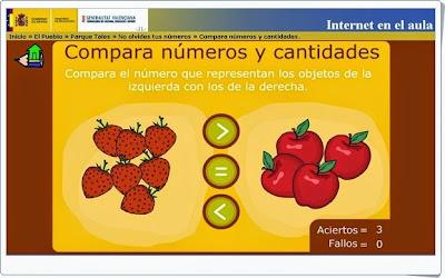 """""""Compara números y cantidades"""" (Matemáticas de 2º de Primaria)"""