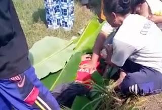 Bocah SD Tenggelam di Embung Dk Semangkon Pamotan Rembang Sudah Meninggal