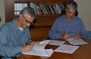 Secretário de Cultura de Teresópolis,Márcio de Paula, e o prefeito Mário Tricano