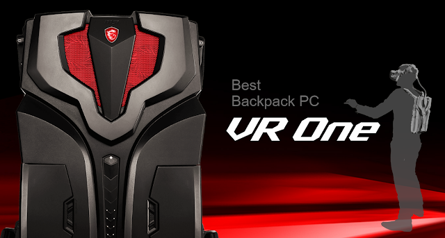 MSI VR One PC a jetpack for virtual reality